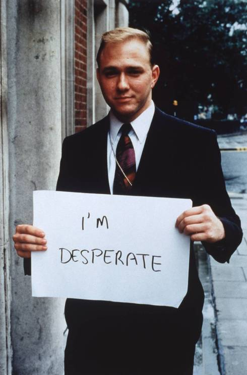 'I'm desperate' 1992-3 by Gillian Wearing